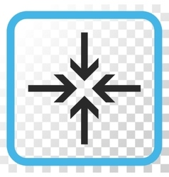 Reduce arrows icon in a frame vector