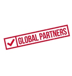 Global partners rubber stamp vector
