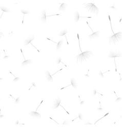Dandelion seeds seamless background vector