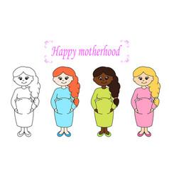 happy motherhood vector image