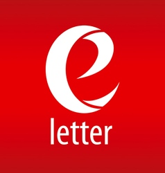 Logo letter e on a red background vector
