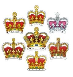 British heraldic crowns vector