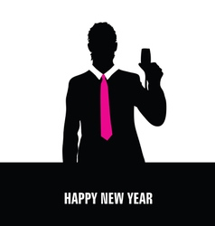 Happy new year with man vector