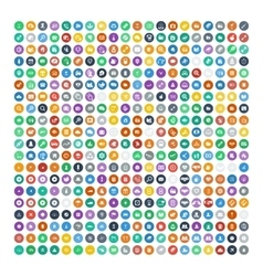 Set of 200 universal icons business internet vector