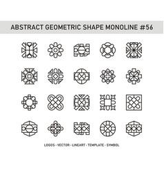 Abstract geometric shape monoline 56 vector