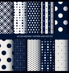 abstract pattern navy dot set vector image vector image