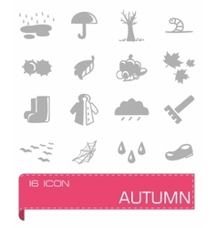 Autumn icon set vector image