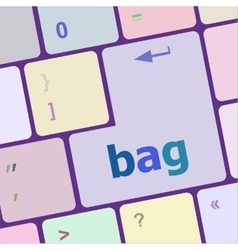 bag button on computer pc keyboard key vector image