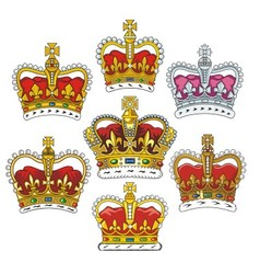 british heraldic crowns vector image vector image