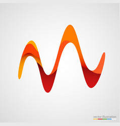business wave corporate decoration element vector image vector image