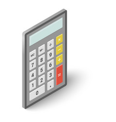 Calculator icon isometric style vector