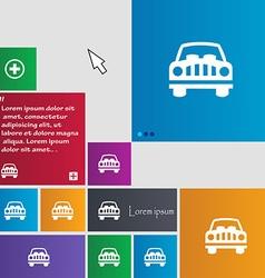 Car icon sign buttons modern interface website vector
