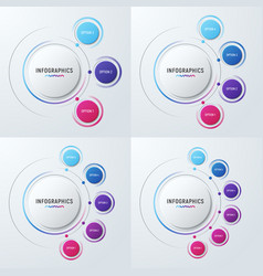 circle chart infographic templates for vector image vector image