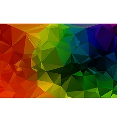 Colorful 3d geometric abstract polygonal triangle vector