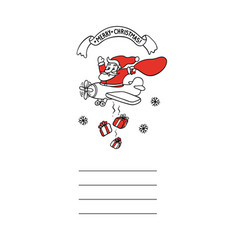 cute sketch funny santa claus vector image