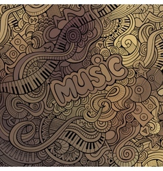 doodles musical background vector image