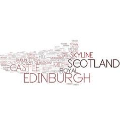 Edinburgh word cloud concept vector