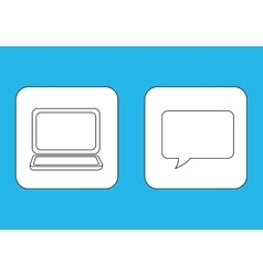 Laptop computer chat vector