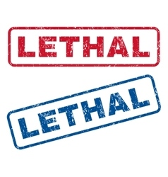 Lethal rubber stamps vector