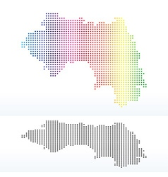 Map of Republic of Guinea with Dot Pattern vector image vector image