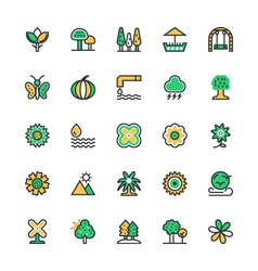 Nature park icons 3 vector