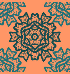 Oriental ornament pattern in orange color vector