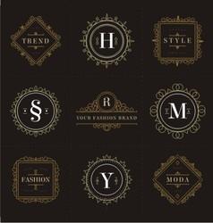 ornamental retro logo vector image vector image