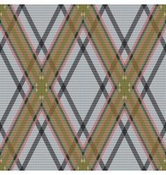 Rhombic tartan brown and gray fabric seamless vector