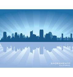 Sacramento california skyline vector
