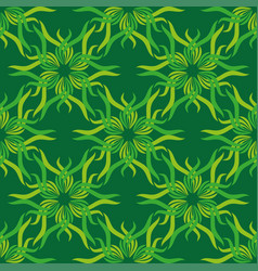 seamless abstract vintage bright green pattern vector image vector image