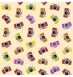 Seamless pattern with camera vector