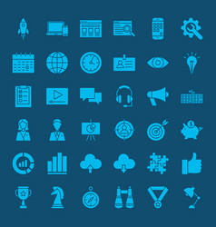 startup glyph web icons vector image