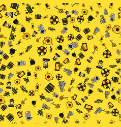 taxi set pattern vector image vector image