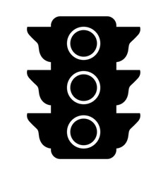 traffic light the black color icon vector image vector image