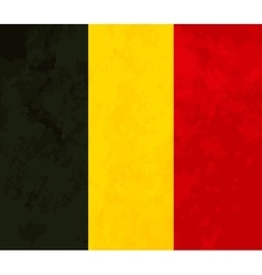 True proportions belgium flag with texture vector