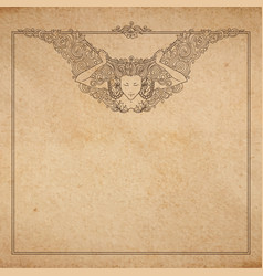 Vintage old paper texture with detailed vector