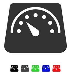 Weight meter flat icon vector