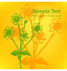 with a place for Your text Hand drawn chamo vector image