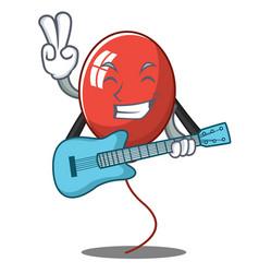 With guitar balloon character cartoon style vector