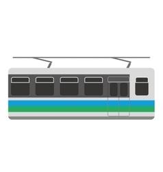 Subway transport public icon vector