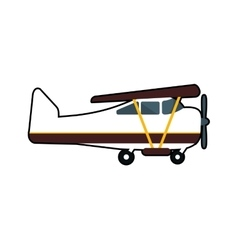 Airplane travel transporation icon graphic vector