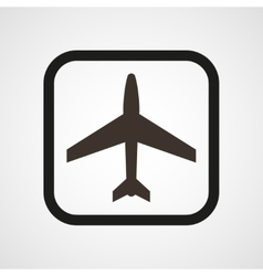 Aircraft Icon Flat Simple vector image