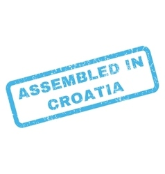 Assembled in croatia rubber stamp vector