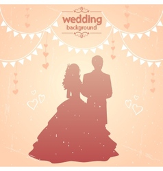 vintage wedding vector image
