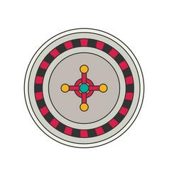 roulette flat vector image