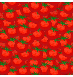 Seamless background of red ripe tomatoes vector