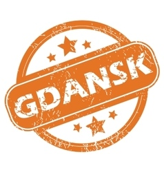 Gdansk rubber stamp vector
