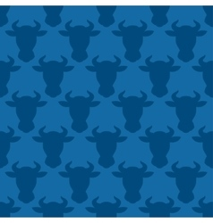 Cow head silhouette seamless pattern for design vector