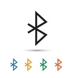 Bluetooth icon vector