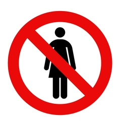 No woman sign vector